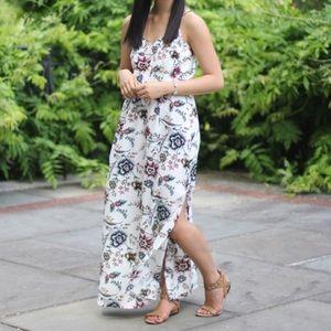 Loft 'Wallpaper Floral' maxi dress, size 0P
